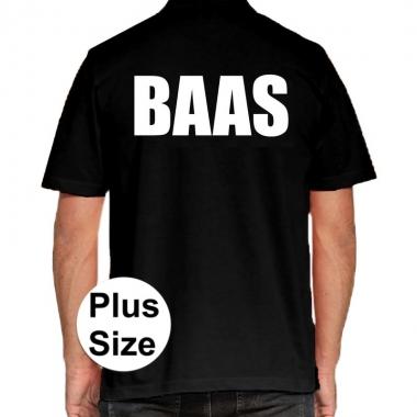 Goedkope zwart plus size baas polo t shirt voor heren