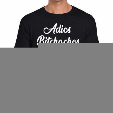 Goedkope zwart t shirt adios bitchachos fun t shirt heren