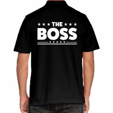 Goedkope zwart the boss polo t shirt voor heren