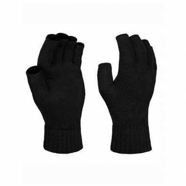 Goedkope zwarte gebreide handschoenen vingerloos