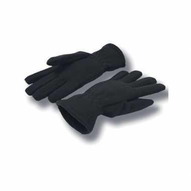 Goedkope zwarte handschoenen fleece voor dames/heren