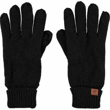 Goedkope zwarte handschoenen met fleece voering voor jongens/meisjes/kinderen