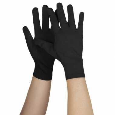 Goedkope zwarte handschoenen voor volwassenen kort