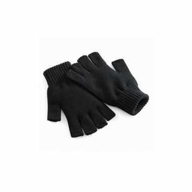 Goedkope zwarte mannen handschoenen vingerloos
