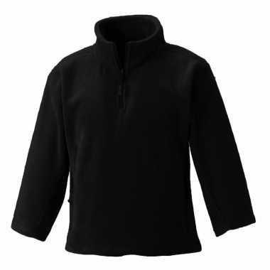 Goedkope zwarte polyester fleece trui voor jongens