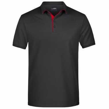 Goedkope zwarte premium poloshirt golf pro voor heren
