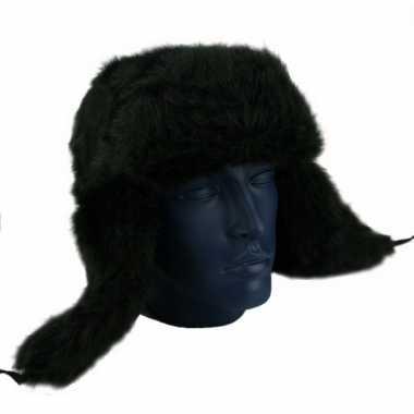 Goedkope zwarte russische bontmutsen