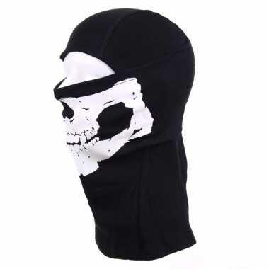 Goedkope zwarte skelet helm bivakmuts voor volwassennen