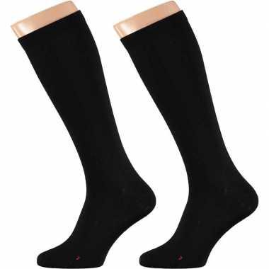 Goedkope zwarte sokken met compressie voor volwassenen