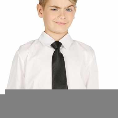 Goedkope zwarte stropdas 30 cm