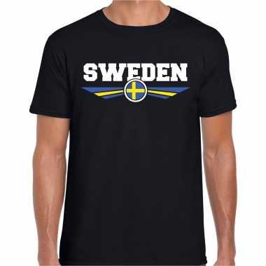 Goedkope zweden / sweden landen shirt zwart voor heren