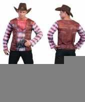 Goedkope 3d cowboy shirt voor heren