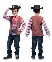 Goedkope 3d cowboy shirt voor kinderen