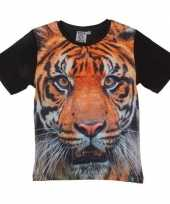 Goedkope all over print t-shirt met tijger voor kinderen