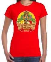 Goedkope aloha tiki bar hawaii shirt beach party outfit kleren rood voor dames