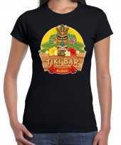 Goedkope aloha tiki bar hawaii shirt beach party outfit kleren zwart voor dames