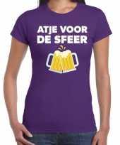 Goedkope atje voor de sfeer fun t-shirt paars voor dames