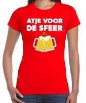Goedkope atje voor de sfeer fun t-shirt rood voor dames