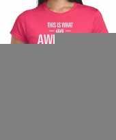 Goedkope awesome coach cadeau t-shirt roze voor dames coach bedankt cadeau