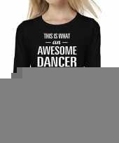 Goedkope awesome dancer danseres cadeau shirt zwart voor dames