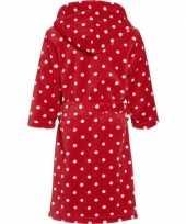 Goedkope badjas rood met witte stippen voor kinderen