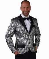 Goedkope barok colbert jasje zilver voor heren