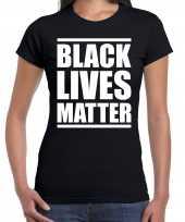Goedkope black lives matter politiek protest betoging shirt anti discriminatie zwart voor dames