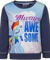 Goedkope blauwe my little pony trui voor meisjes
