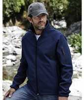 Goedkope blauwe softshell jas voor heren