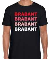 Goedkope brabant provincie shirt zwart voor heren