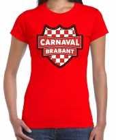 Goedkope brabant verkleedshirt voor carnaval rood dames