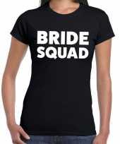 Goedkope bride squad fun t-shirt zwart voor dames