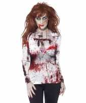 Goedkope carnavalskleren zombie t-shirt dames