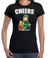 Goedkope cheers feest-shirt outfit zwart voor dames st patricksday