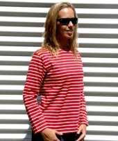 Goedkope dames shirt lange mouw met bretonse streep
