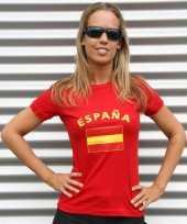 Goedkope dames t-shirt met de spaanse vlag