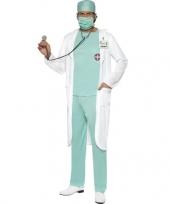 Goedkope dokter verkleedkleren met jas voor heren
