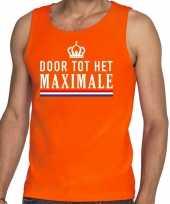 Goedkope door tot het maximale tanktop mouwloos shirt oranje heren