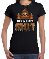 Goedkope drol emoticon fun shirt dames zwart