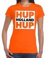 Goedkope ek wk supporter t-shirt hup holland hup oranje voor dames