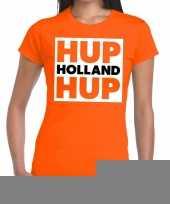 Goedkope ek wk supporter t-shirt hup holland hup oranje voor heren