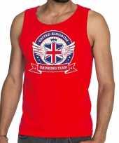 Goedkope engeland drinking team tanktop mouwloos shirt rood heren