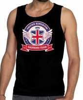 Goedkope engeland drinking team tanktop mouwloos shirt zwart heren