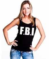 Goedkope fbi mouwloos shirt zwart voor dames