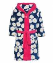 Goedkope fleece kinder badjassen ochtendjassen bloemenprint voor meisjes