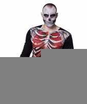 Goedkope fotorealistische zombie skelet-shirt