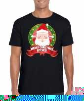 Goedkope foute kerst-shirt merry christmas bitches heren 10125365
