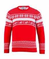 Goedkope foute kersttrui the red nordic voor heren
