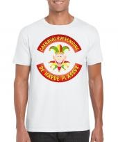 Goedkope fun t-shirt limburgse carnavalsvereniging wit voor heren