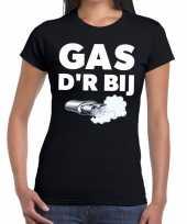 Goedkope gas der bij zwarte cross achterhoek t-shirt zwart voor dames